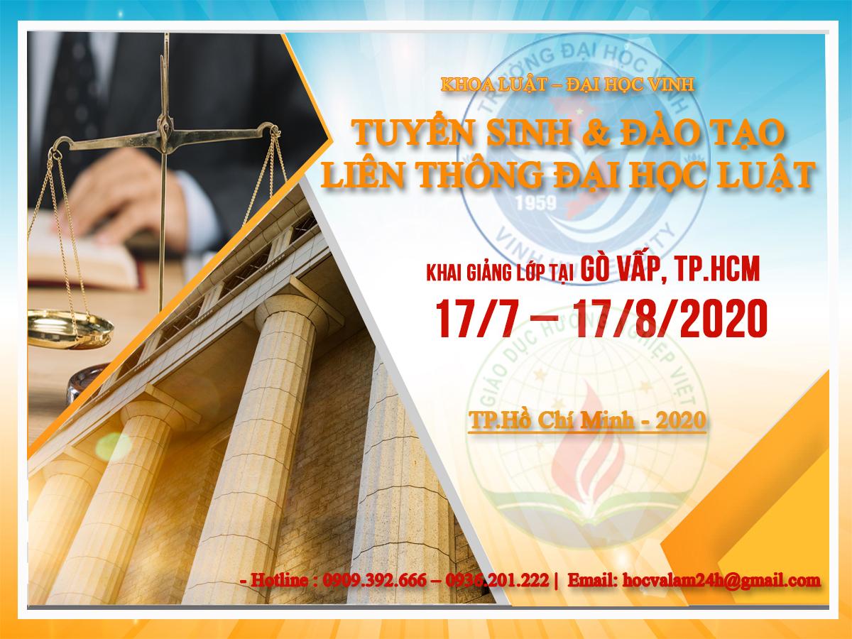 LIÊN THÔNG ĐẠI HỌC NGÀNH LUẬT KINH TẾ TẠI TPHCM 2020