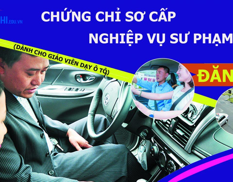 Chứng chỉ nghiệp vụ sư phạm sơ cấp dành Cho giáo viên dạy lái ô tô
