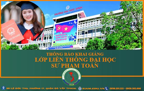 Mở lớp đào tạo liên thông đại học sư phạm tại Tphcm