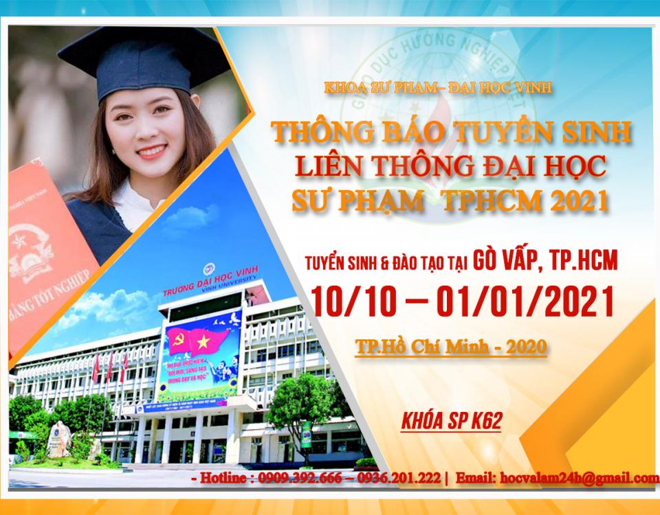 Xét tuyển liên thông đại học giáo dục tiểu học tại Tphcm 2021