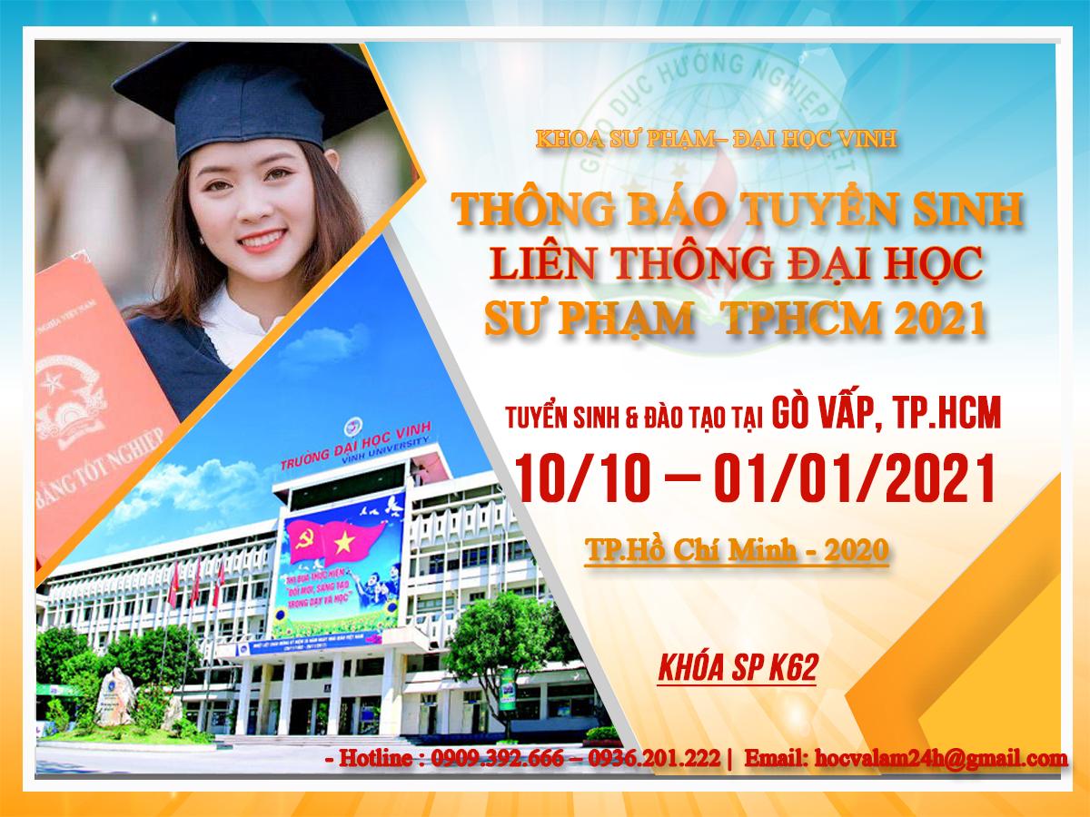 liên thông đại học SƯ PHẠM tiểu học tại Tphcm 2021