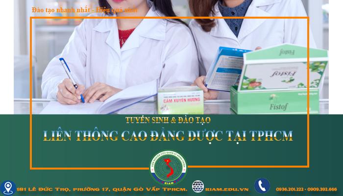 Liên thông cao đẳng Dược học ngoài giờ hành chính tại Tphcm 2021
